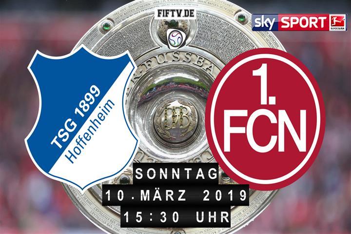 1899 Hoffenheim - 1.FC Nürnberg Spielankündigung
