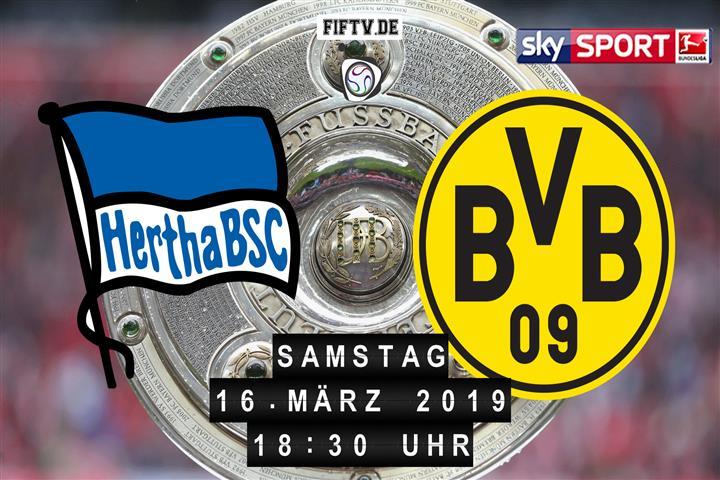 Hertha BSC - Borussia Dortmund Spielankündigung