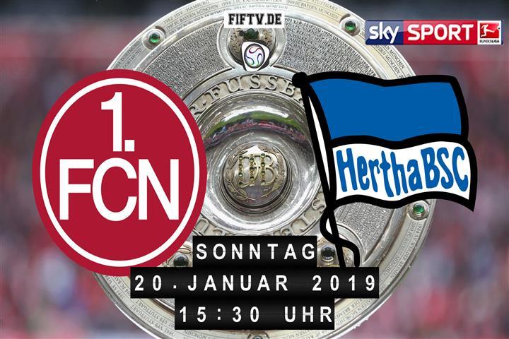 1.FC Nürnberg - Hertha BSC Spielankündigung