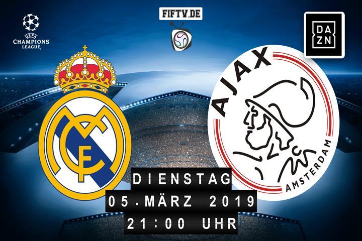 Real Madrid - Ajax Amsterdam Spielankündigung