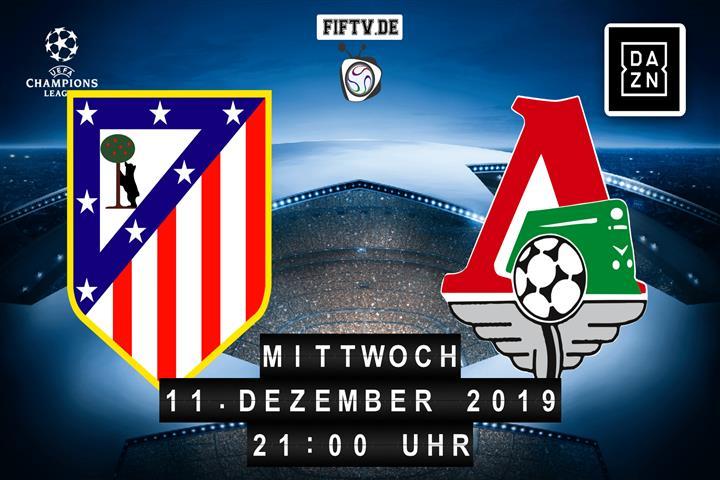 Atletico Madrid - Lokomotive Moskau Spielankündigung