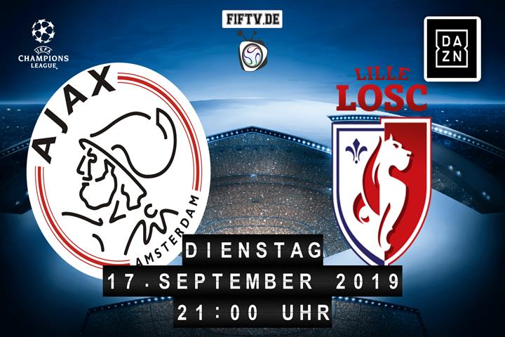 Ajax Amsterdam - OSC Lille Spielankündigung