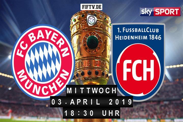 Bayern München - 1.FC Heidenheim Spielankündigung