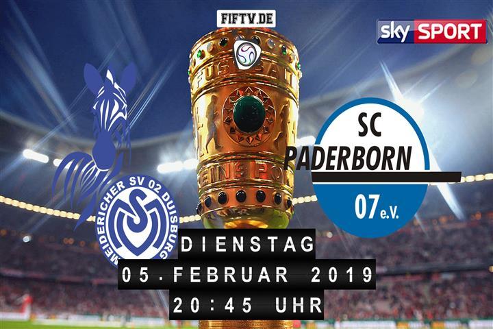 MSV Duisburg - SC Paderborn 07 Spielankündigung