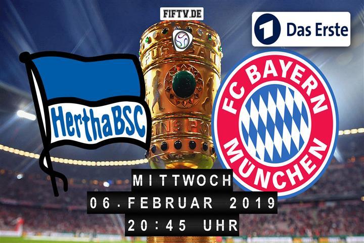 Hertha BSC - Bayern München Spielankündigung
