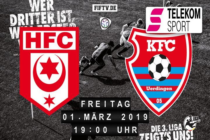 Hallescher FC - KFC Uerdingen 05 Spielankündigung