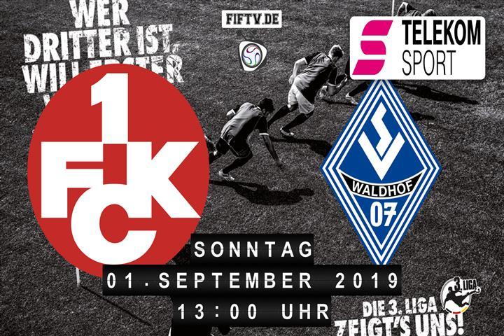 1.FC Kaiserslautern - SV Waldhof Mannheim Spielankündigung