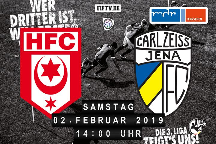 Hallescher FC - Carl Zeiss Jena Spielankündigung