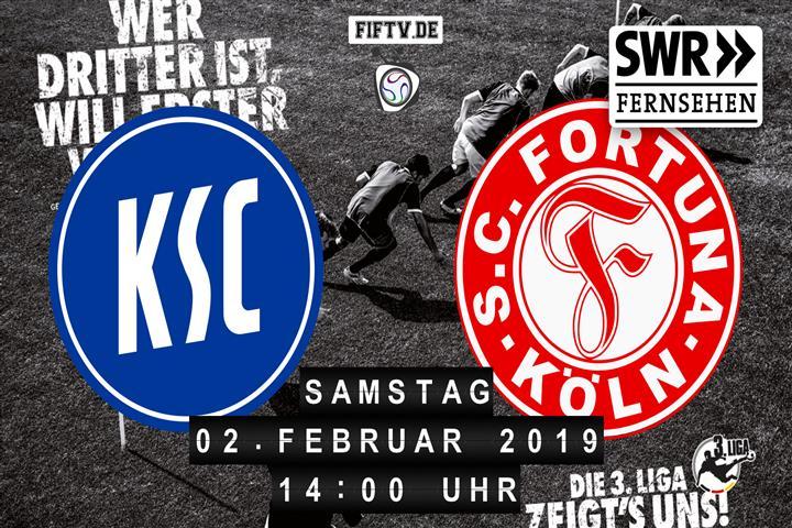 Karlsruher SC - Fortuna Köln Spielankündigung