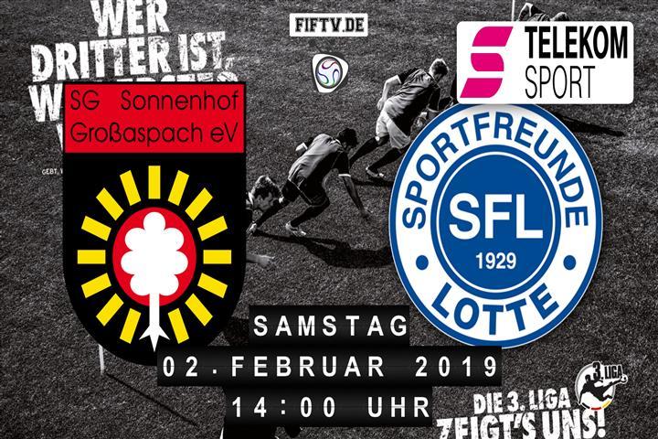 Sonnenhof Großaspach - Sportfreunde Lotte Spielankündigung