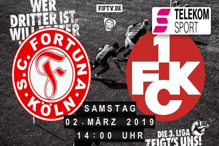 Fortuna Köln - 1.FC Kaiserslautern Spielankündigung