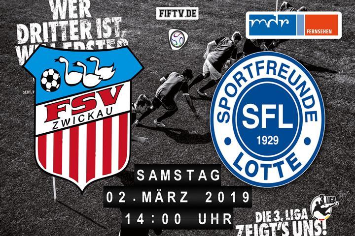 FSV Zwickau - Sportfreunde Lotte Spielankündigung