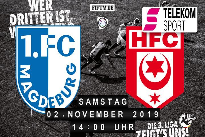 1.FC Magdeburg - Hallescher FC Spielankündigung