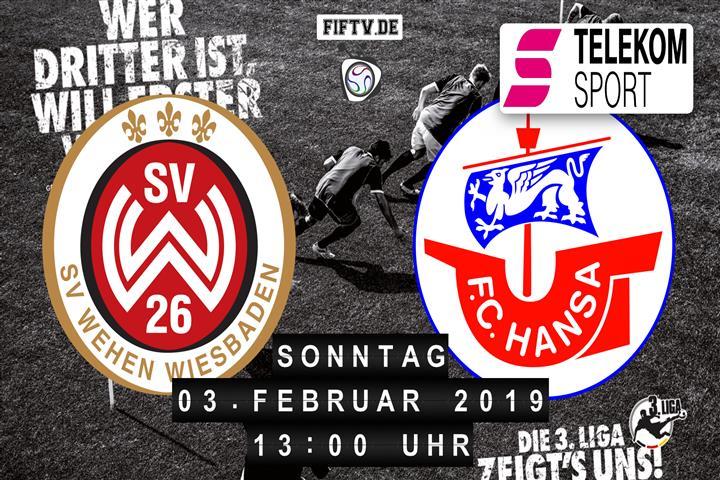 SV Wehen Wiesbaden - Hansa Rostock Spielankündigung