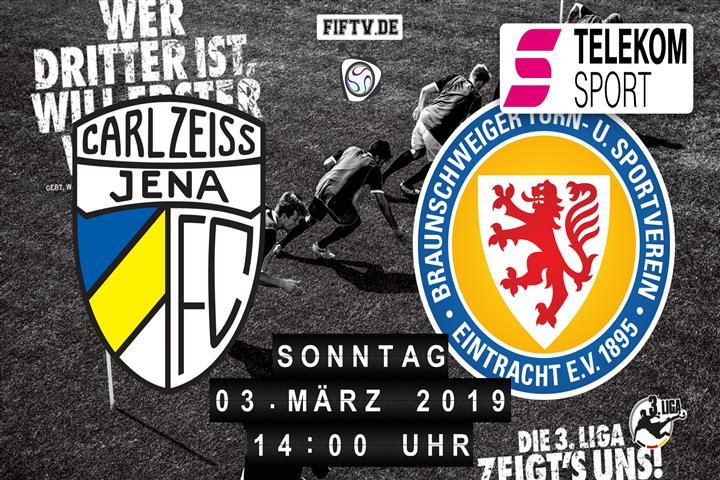 Carl Zeiss Jena - Eintracht Braunschweig Spielankündigung