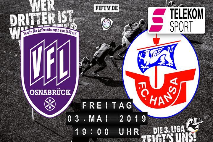 VfL Osnabrück - Hansa Rostock Spielankündigung
