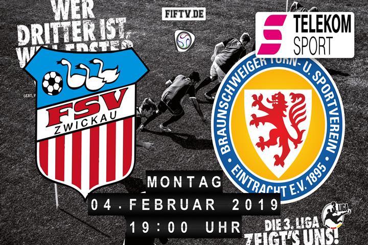 FSV Zwickau - Eintracht Braunschweig Spielankündigung