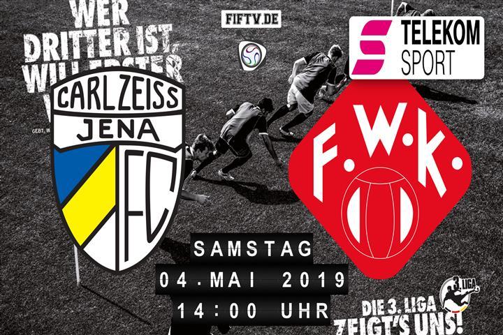 Carl Zeiss Jena - Würzburger Kickers Spielankündigung