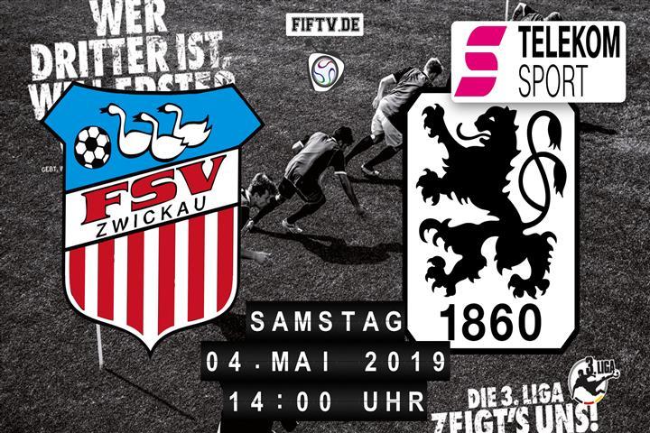 FSV Zwickau - TSV 1860 München Spielankündigung