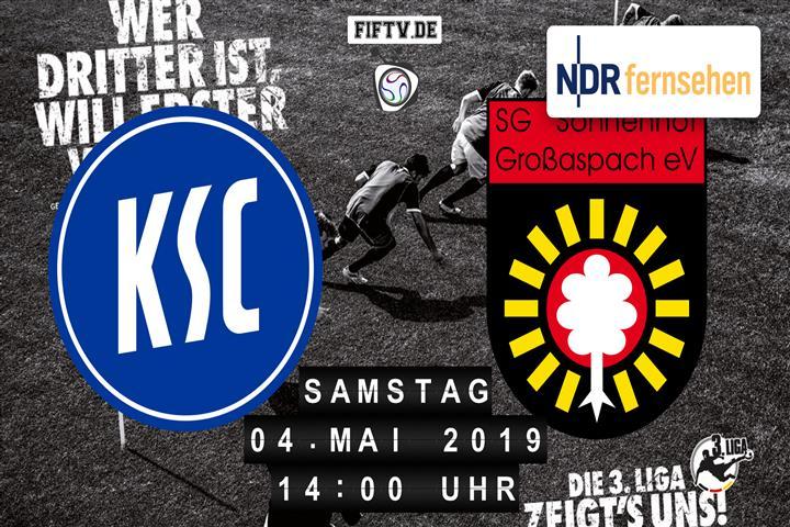 Karlsruher SC - Sonnenhof Großaspach Spielankündigung