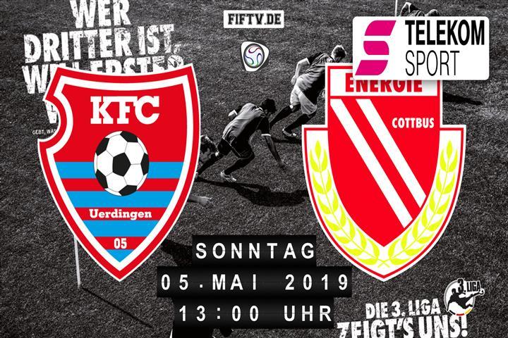 KFC Uerdingen 05 - Energie Cottbus Spielankündigung