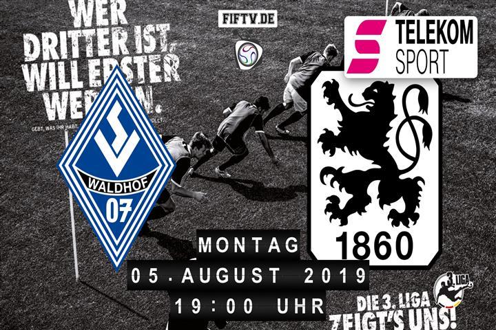 SV Waldhof Mannheim - TSV 1860 München Spielankündigung