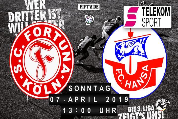 Fortuna Köln - Hansa Rostock Spielankündigung