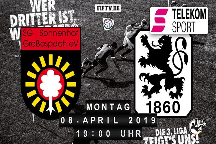 Sonnenhof Großaspach - TSV 1860 München Spielankündigung