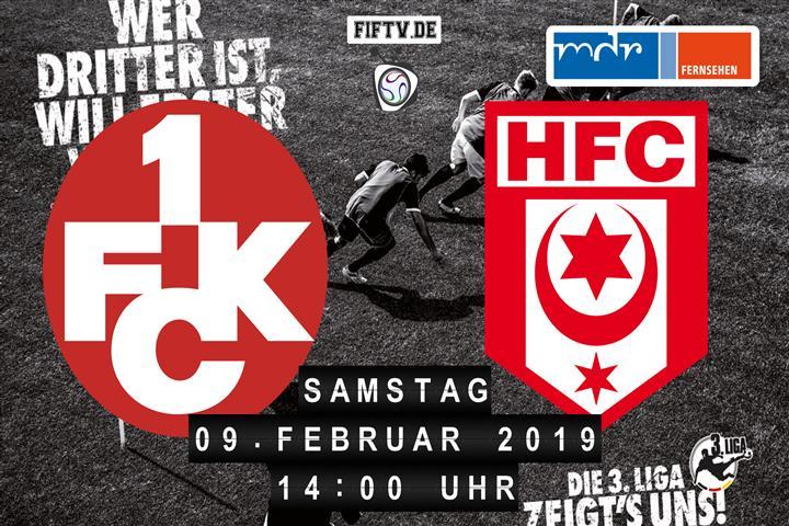 1.FC Kaiserslautern - Hallescher FC Spielankündigung