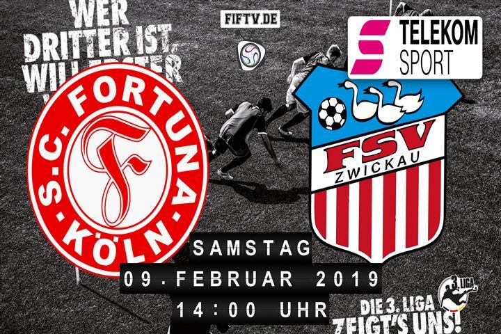 Fortuna Köln - FSV Zwickau Spielankündigung