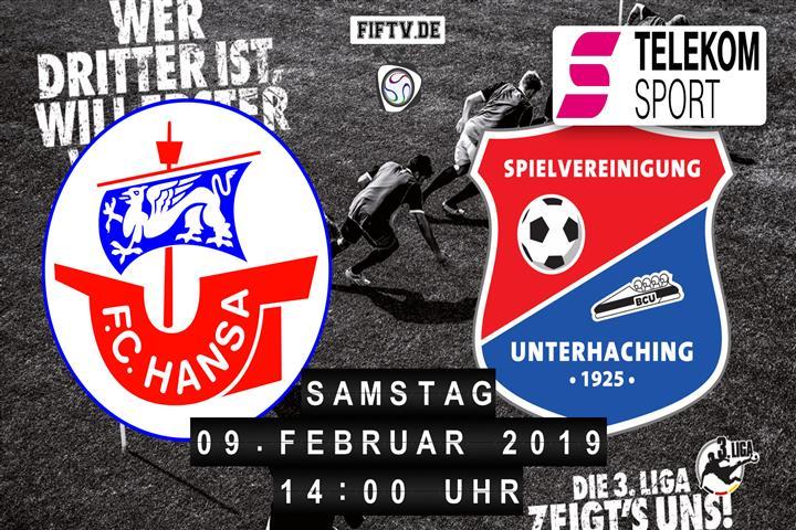 Hansa Rostock - SpVgg Unterhaching Spielankündigung