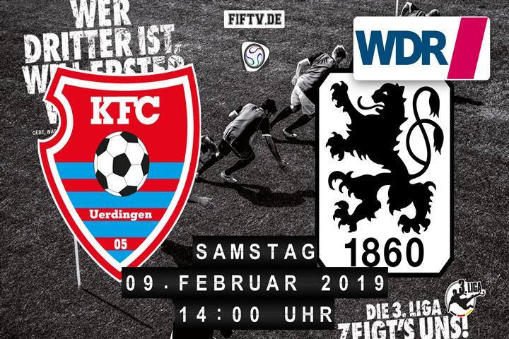 KFC Uerdingen 05 - TSV 1860 München Spielankündigung