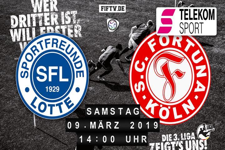 Sportfreunde Lotte - Fortuna Köln Spielankündigung