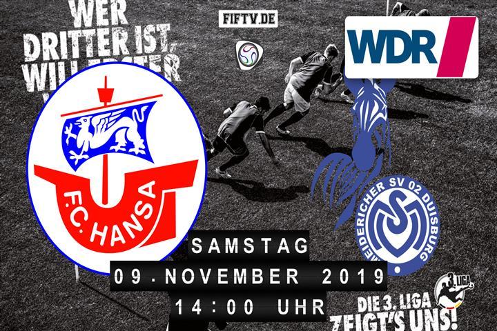Hansa Rostock - MSV Duisburg Spielankündigung