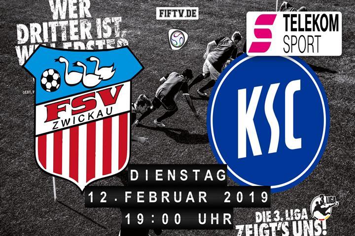 FSV Zwickau - Karlsruher SC Spielankündigung