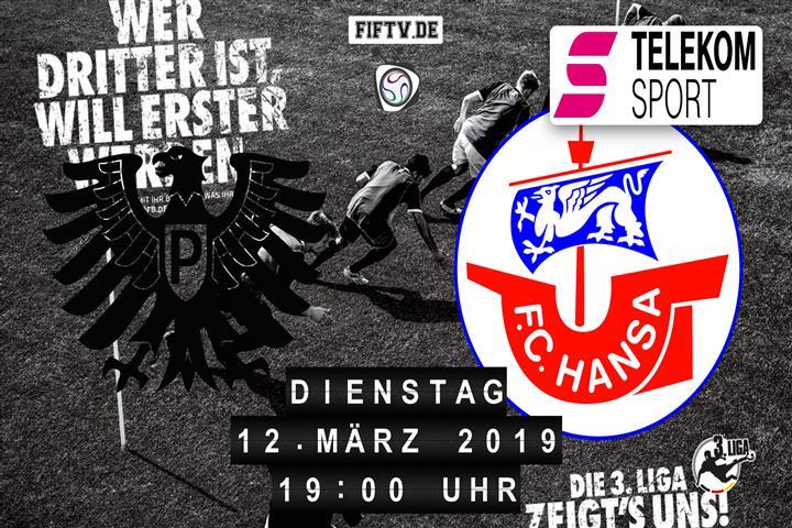 Preussen Münster - Hansa Rostock Spielankündigung