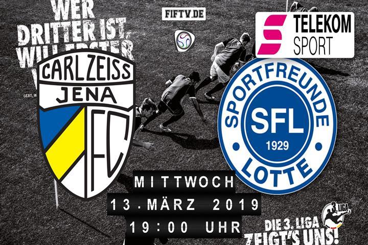 Carl Zeiss Jena - Sportfreunde Lotte Spielankündigung