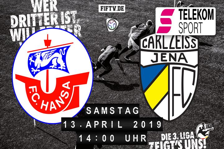 Hansa Rostock - Carl Zeiss Jena Spielankündigung