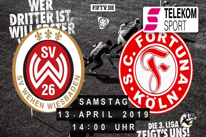 SV Wehen Wiesbaden - Fortuna Köln Spielankündigung