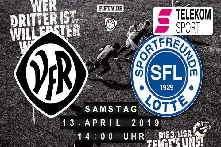 VfR Aalen - Sportfreunde Lotte Spielankündigung