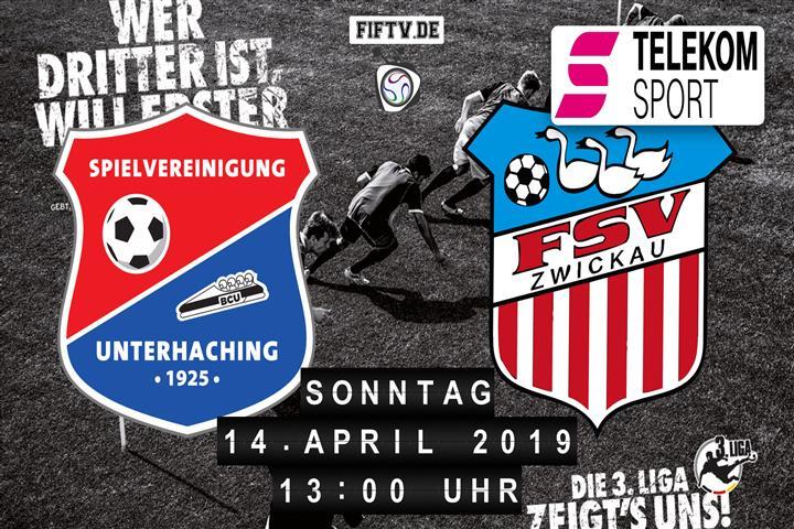 SpVgg Unterhaching - FSV Zwickau Spielankündigung