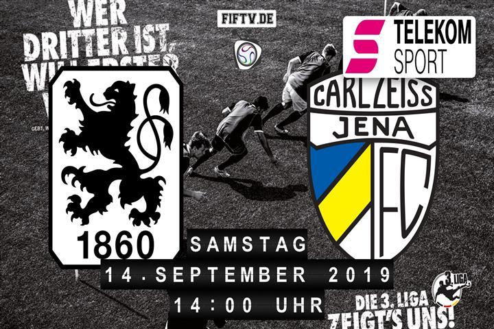 TSV 1860 München - Carl Zeiss Jena Spielankündigung