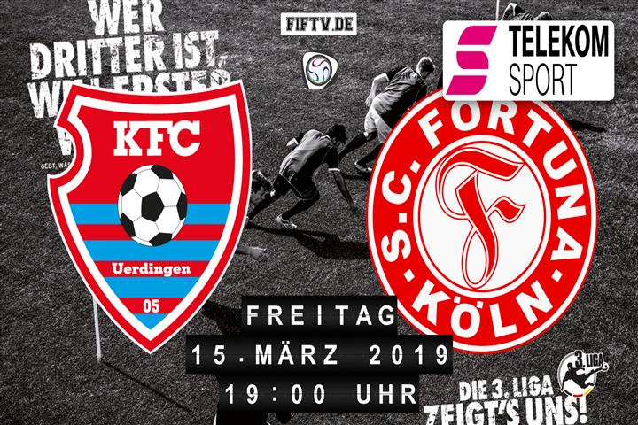 KFC Uerdingen 05 - Fortuna Köln Spielankündigung