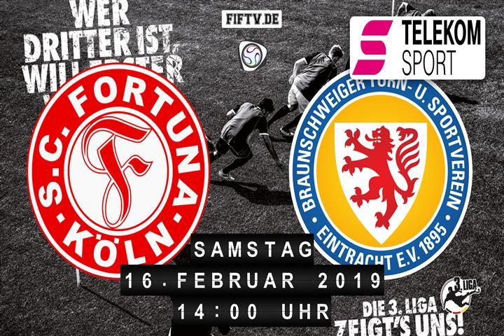 Fortuna Köln - Eintracht Braunschweig Spielankündigung