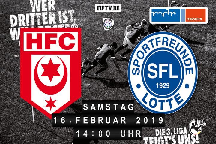 Hallescher FC - Sportfreunde Lotte Spielankündigung