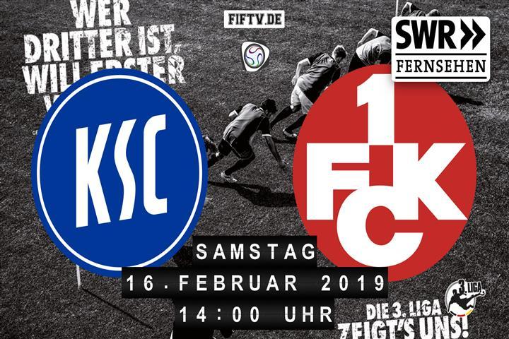 Karlsruher SC - 1.FC Kaiserslautern Spielankündigung