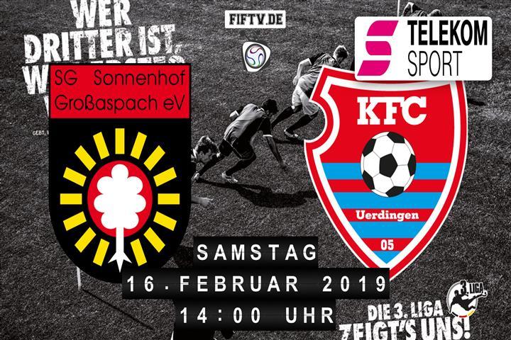 Sonnenhof Großaspach - KFC Uerdingen 05 Spielankündigung