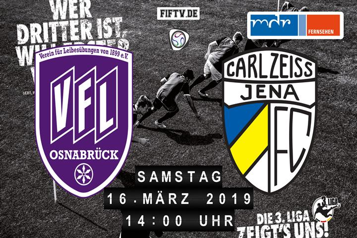 VfL Osnabrück - Carl Zeiss Jena Spielankündigung