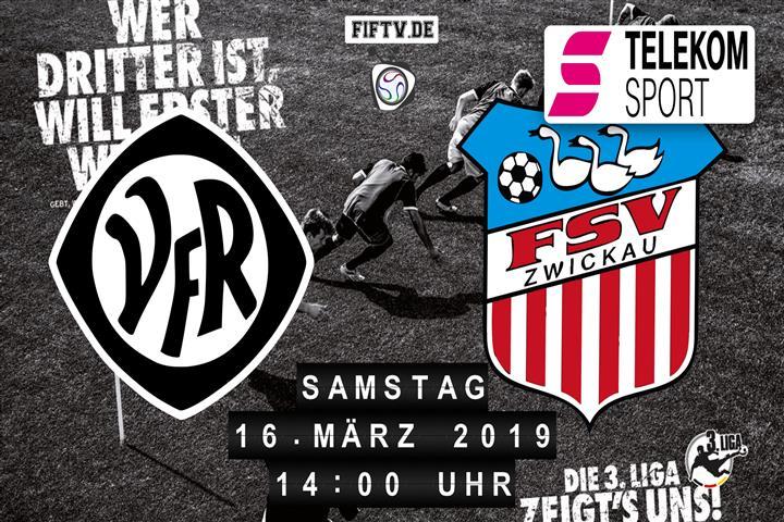 VfR Aalen - FSV Zwickau Spielankündigung
