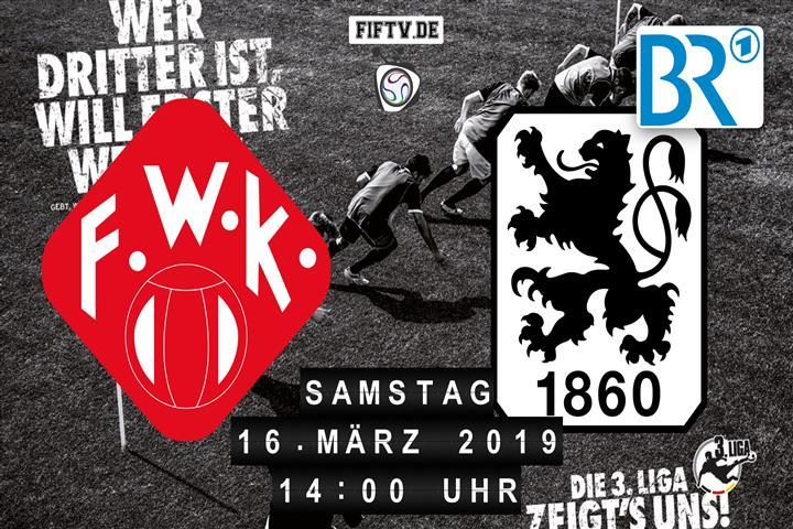 Würzburger Kickers - TSV 1860 München Spielankündigung